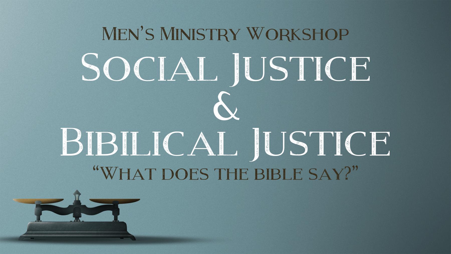 Men's Ministry Workshop